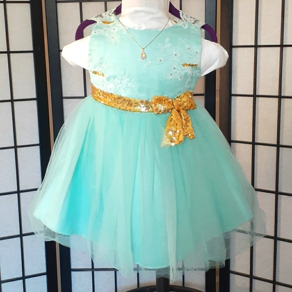 Baby Formal Dress, color mint 2 years